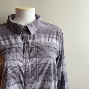 Purple Striped REI Coop Long Sleeve Button Down XL